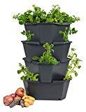 Kartoffelturm - 4 Etagen - stapelbar - für Balkon und Garten
