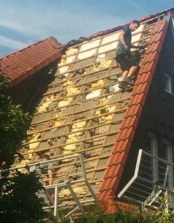 Schaden durch Marder unter dem Dach