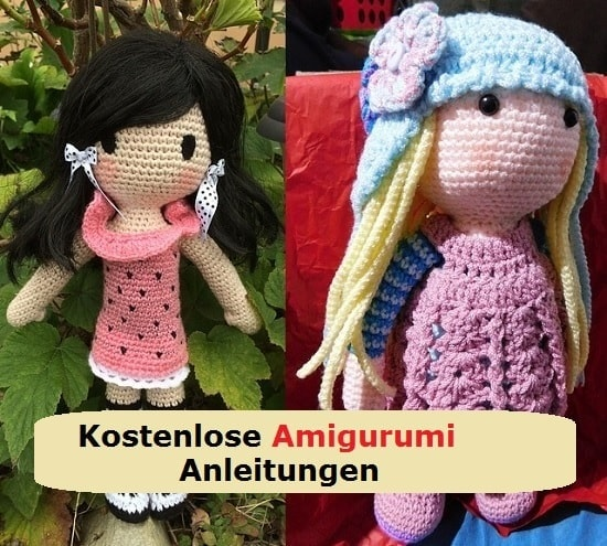 amigurumi anleitung 54 kostenlose vorlagen f r h kelfiguren h keltiere. Black Bedroom Furniture Sets. Home Design Ideas
