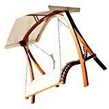 Design Hollywoodschaukel Gartenschaukel Hollywoodliege Doppelliege aus Holz Lärche mit Dach Modell: 'ARUBA' von AS-S