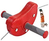 Seilbahn Para für Kinder im Garten Kabelbahn 30 m Farbe rot, TÜV von Gartenpirat®