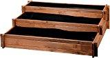 """dobar Drei-Etagen Hochbeet """"Peru"""" aus Holz (Kiefer): Tischbeet Bausatz für Gemüse, Kräuter, Blumen, flexibel platzierbar, braun, 110 x 88 x 36 cm, 58180FSC"""
