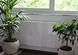Heizkörper-Verkleidung, 62 x 60 cm Design: Raute, weiß (Set= 2 Stück)