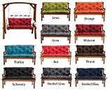 Gartenbankauflage Bankauflage Bankkissen Sitzkissen 180 x 60 x 50 cm Polsterauflage Sitzpolster (weinrot)