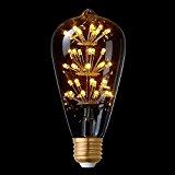 Splink Antik LED Edison Glühbirne Vintage Stern Dekorative Lampe 2W, E27, 220V 2200-2400K Warmgelb, 100LM, Ideal für Antik Beleuchtung