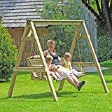 Hollywoodschaukel 190 x 164 x 198 cm 2-Sitzer Holz von Gartenpirat®